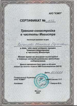 Сабанцева Светлана Магистр космоэнергетики